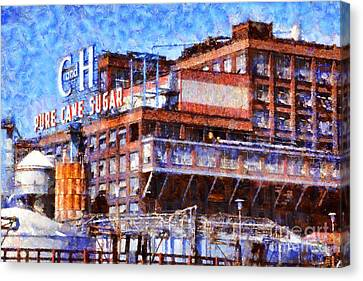 The Old C And H Pure Cane Sugar Plant In Crockett California . 5d16769 Canvas Print by Wingsdomain Art and Photography