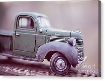 Old Trucks Canvas Print - The Old Farm Truck by Edward Fielding