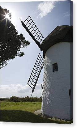Canvas Print featuring the photograph The Old Irish Windmill by Ian Middleton