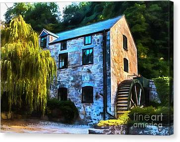 Chris Evans Canvas Print - The Old Mill  by Chris Evans