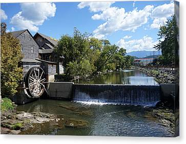 The Old Mill Canvas Print by Laurie Perry