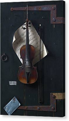 The Old Violin Canvas Print
