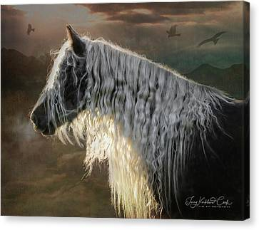 Gypsy Cob Canvas Print - The Overlook by Terry Kirkland Cook