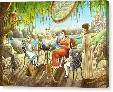 The Palace Garden Tea Party Canvas Print by Reynold Jay
