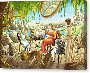 The Palace Garden Tea Party Canvas Print