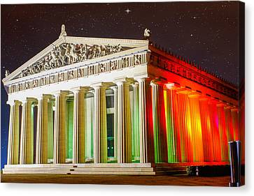 The  Parthenon Under The Stars Canvas Print