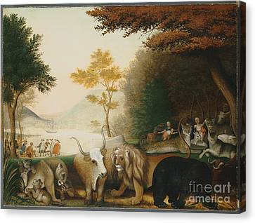 The Peaceable Kingdom  Canvas Print by Celestial Images