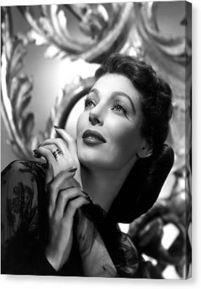 Publicity Shot Canvas Print - The Perfect Marriage, Loretta Young by Everett