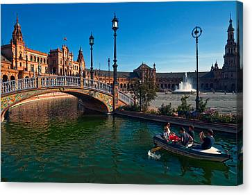 The Plaza De Espana, In Maria Luisa Canvas Print by Panoramic Images