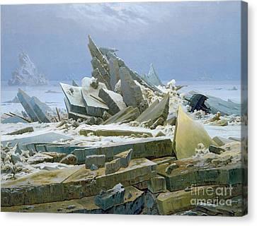 The Polar Sea Canvas Print by Caspar David Friedrich