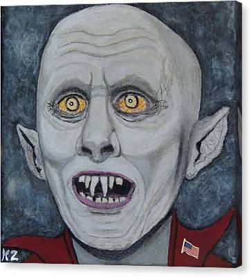 Canvas Print featuring the painting The Politician. by Ken Zabel