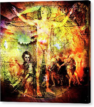 The Prophet On Death Canvas Print by Barry Novis