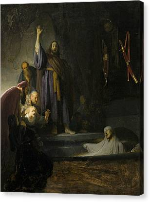 The Raising Of Lazarus  Canvas Print by Rembrandt