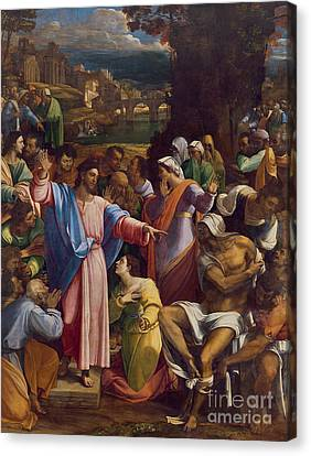 The Raising Of Lazarus Canvas Print by Sebastiano del Piombo