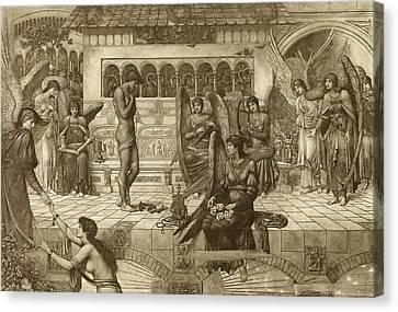 Romance Renaissance Canvas Print - The Ramparts Of God's House by John Melhuish Strudwick