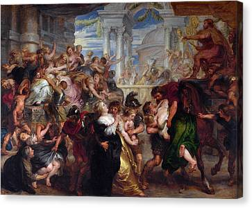 The Rape Of The Sabine Women Canvas Print by Peter Paul Rubens