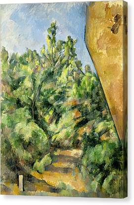 The Red Rock  Canvas Print by Paul Cezanne