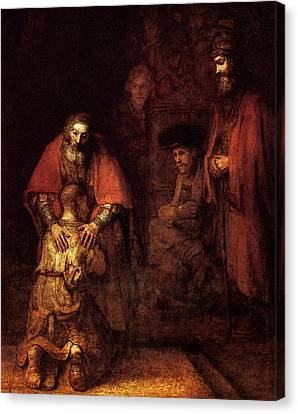 Prodigal Canvas Print - The Return Of The Prodigal Son  by Rembrandt