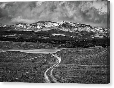 Canvas Print featuring the photograph The Road That Leads You Home by Peter Tellone