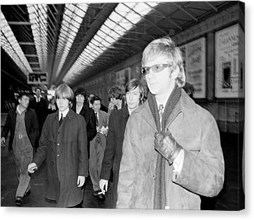 The Rolling Stones Arrive In Dublin Canvas Print by Irish Photo Archive