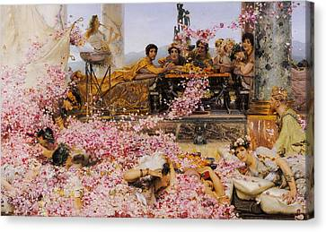 The Roses Of Heliogabalus Canvas Print by Lawrence Alma-Tadema