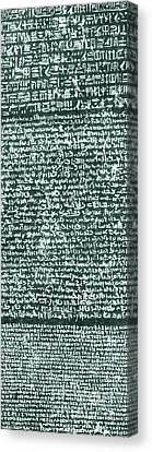 The Rosetta Stone Canvas Print by Egyptian School