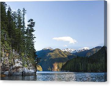 The Rugged, Rocky Forested Shoreline Canvas Print by Taylor S. Kennedy
