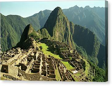 Terrain Canvas Print - The Ruins Of Machu Picchu, Peru, Latin America by Brian Caissie