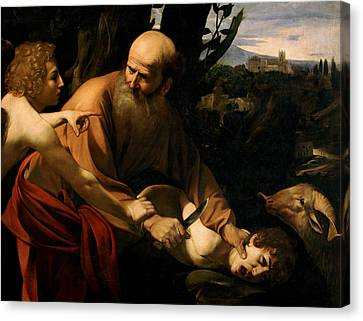 The Sacrifice Of Isaac Canvas Print