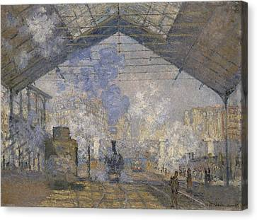 The Saint-lazare Station Canvas Print by Claude Monet