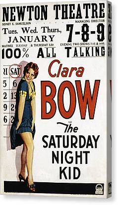 The Saturday Night Kid, Clara Bow, 1929 Canvas Print by Everett
