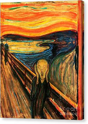 The Scream Canvas Print - The Scream by Pg Reproductions
