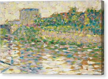 The Seine At Courbevoie  Canvas Print by Georges-Pierre Seurat