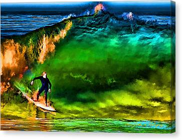 Canvas Print featuring the photograph The Shadow Within by John A Rodriguez