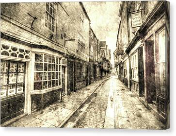 The Shambles York Vintage Canvas Print by David Pyatt