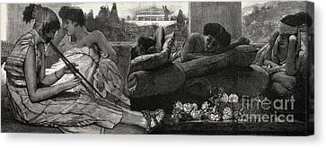 The Siesta Canvas Print by Sir Lawrence Alma-Tadema