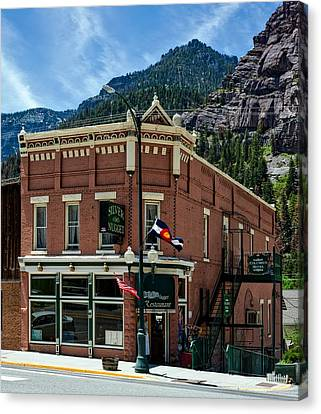 The Silver Nugget Restaurant Canvas Print by Mountain Dreams