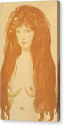 The Sin Canvas Print by Edvard Munch