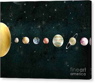 The Solar System Canvas Print by Bri B