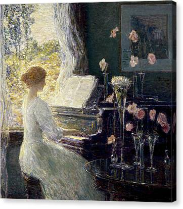Childe Canvas Print - The Sonata by Childe Hassam