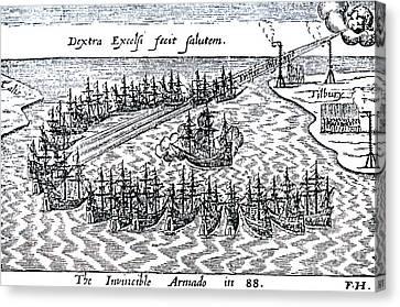 The Spanish Armada Canvas Print