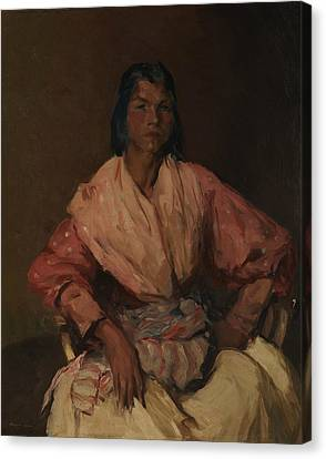 The Spanish Gypsy Canvas Print by Robert Henri