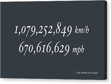 The Speed Of Light Canvas Print by Michael Tompsett