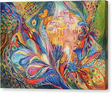 The Spirit Of Jerusalem Canvas Print by Elena Kotliarker