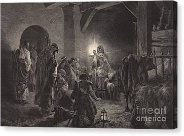 Stable Canvas Print - The Star Of Bethlehem by English School