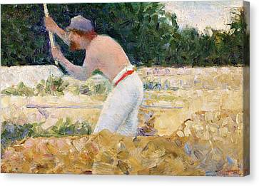 The Stone Breaker Canvas Print by Georges Pierre Seurat