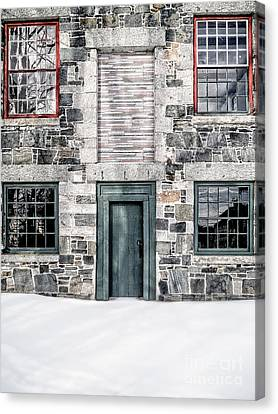 The Stone Mill Enfield Nh Canvas Print by Edward Fielding