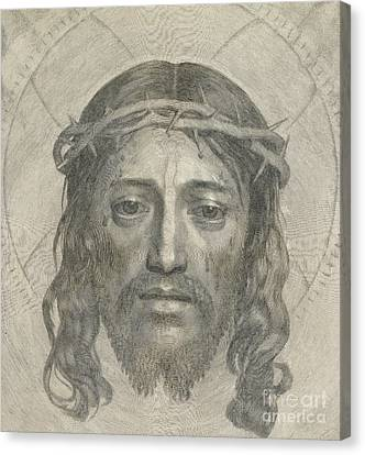 The Sudarium Of Saint Veronica Canvas Print by Claude Mellan