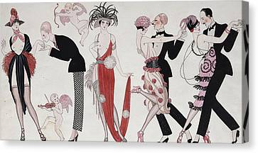 The Tango Canvas Print by Georges Barbier