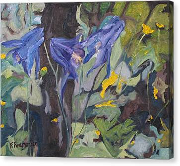The Three Columbines  Canvas Print by Francois Fournier